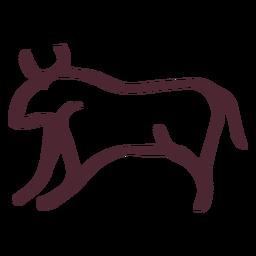 Símbolo de touro agressivo egípcio
