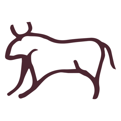 Egyptian agressive bull symbol