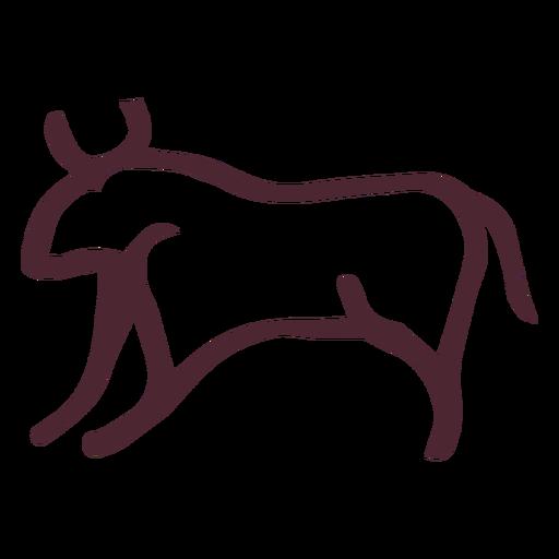 Símbolo de touro agressivo egípcio Transparent PNG