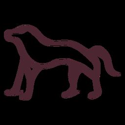 Símbolo de hieróglifos antigo babuíno egípcio