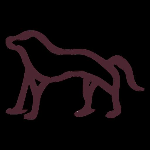 Símbolo de jeroglíficos de babuino antiguo egipcio