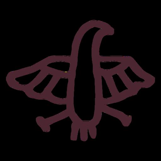 Antiguo egipcio horus halcón símbolo de jeroglíficos