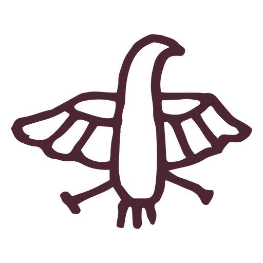 Egyptian ancient horus falcon hieroglyphs symbol Transparent PNG
