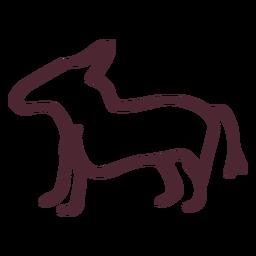Símbolo de jeroglíficos animales egipcios