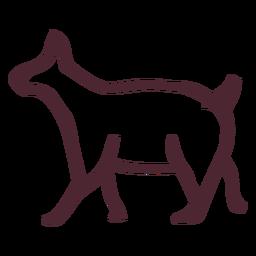 Símbolo tradicional animal egipcio