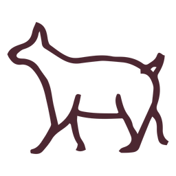 Símbolo tradicional animal egípcio