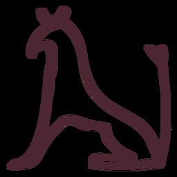 Animal egípcio do símbolo do símbolo seth