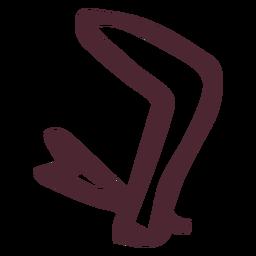 Símbolo de jeroglíficos del brazo egipcio