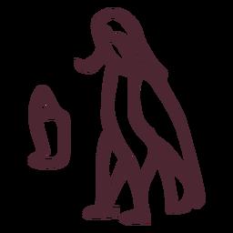 Pássaro ba egípcio com símbolo de cabeça humana
