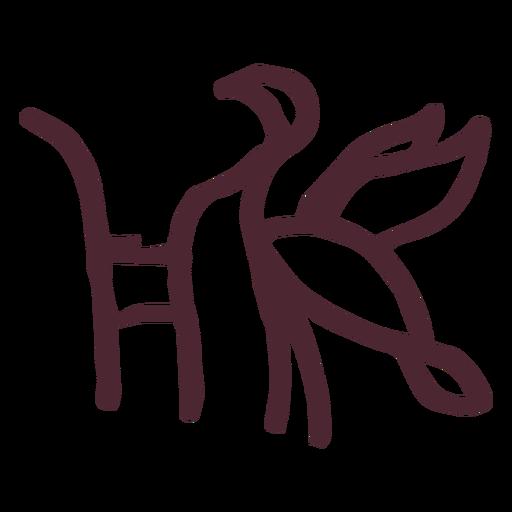 Pájaro egipcio símbolo jeroglífico símbolo pájaro Transparent PNG