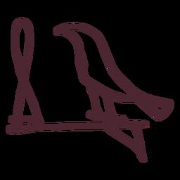 Símbolo de hieróglifos de pássaros egípcios