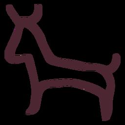 Símbolo de jeroglífico toro egipcio