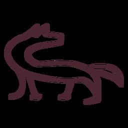 Egyptian bull hieroglyphs symbol