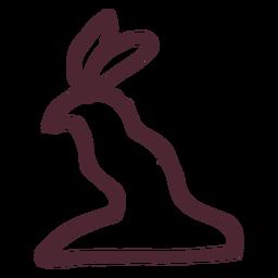 Símbolo de halcón agazapado egipcio