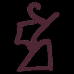 Símbolo de hieróglifos da coroa egípcia
