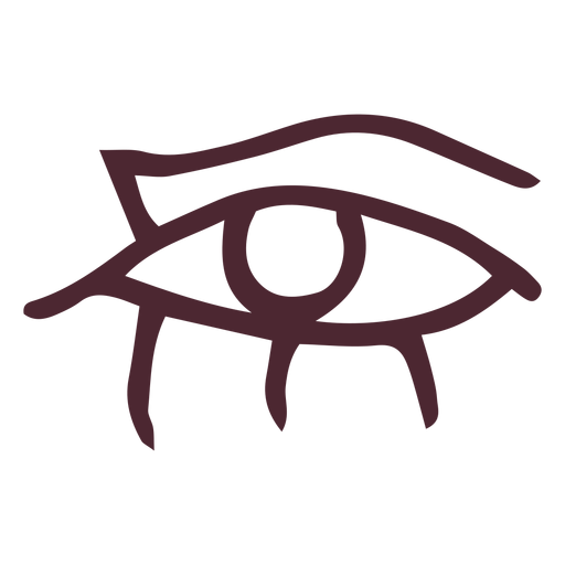 Egyptian eye with flowing tears hieroglyphs symbol Transparent PNG