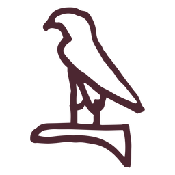Símbolo de jeroglífico halcón egipcio