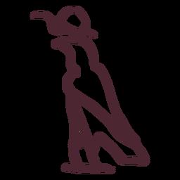 Halcón egipcio con símbolo de disco solar
