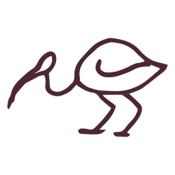 Símbolo de flamenco egipcio