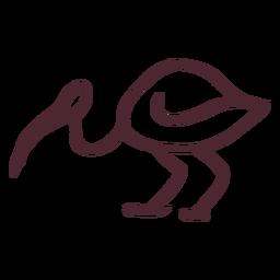 Símbolo flamingo egípcio