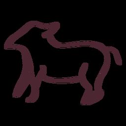 Jeroglífico egipcio símbolo animal