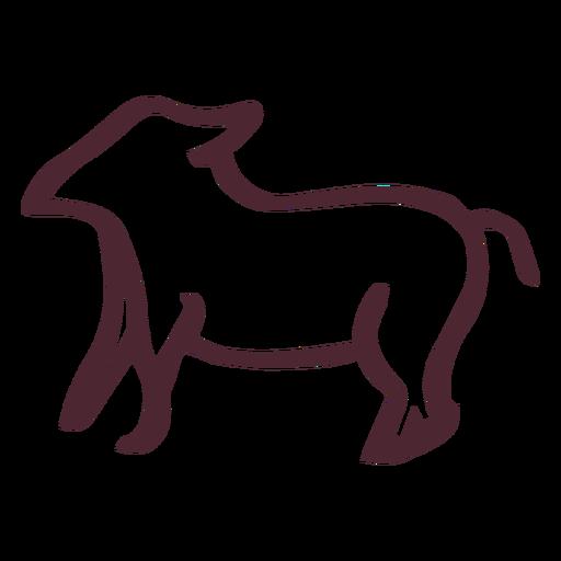 Jeroglífico egipcio símbolo animal Transparent PNG