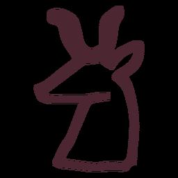 Jeroglífico egipcio símbolo de ciervo