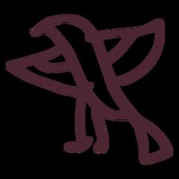 Egyptian horus falcon symbol