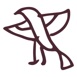 Simbolo del halcon del horus egipcio