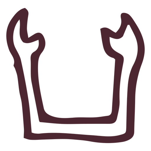 Egyptian ka traditional symbol Transparent PNG