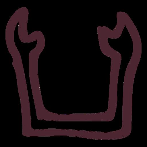 Símbolo tradicional ka egípcio Transparent PNG