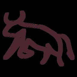 Símbolo de toro agresivo tradicional egipcio