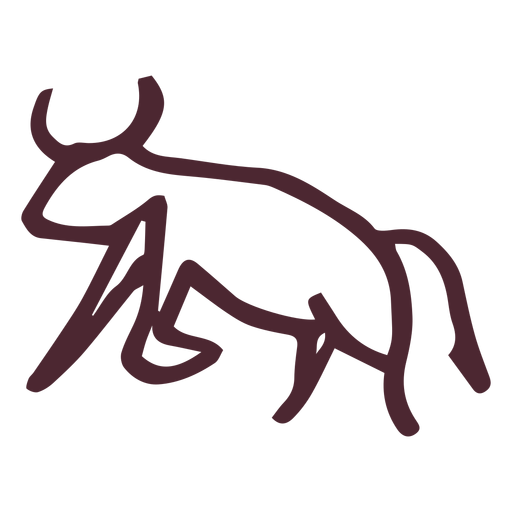 Egyptian traditional aggressive bull symbol Transparent PNG