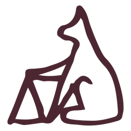 Símbolo de hieróglifos animais tradicionais egípcios