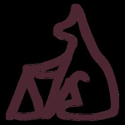 Símbolo de los jeroglíficos de animales tradicionales egipcios