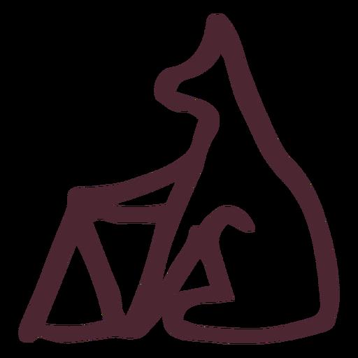 Símbolo de los jeroglíficos de animales tradicionales egipcios Transparent PNG