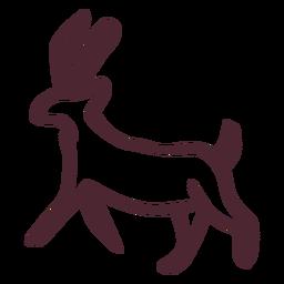 Símbolo tradicional egipcio de los animales
