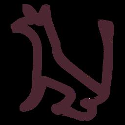 Ägyptisches traditionelles Tier von Seth-Symbol