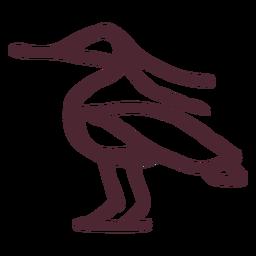 Símbolo de pájaro bennu tradicional egipcio