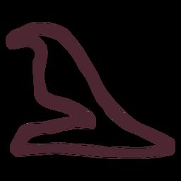 Egipcio tradicional símbolo de halcón agazapado