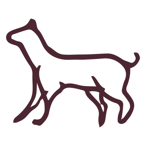 Egyptian traditional dog symbol Transparent PNG