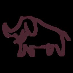 Símbolo de elefante tradicional egípcio