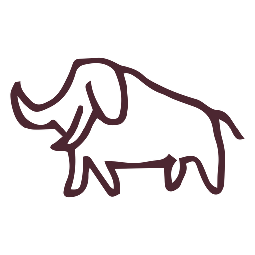 Egyptian traditional elephant symbol Transparent PNG