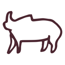 Ägyptisches traditionelles Elefantsymbolsymbol