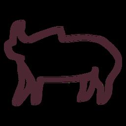 Símbolo de símbolo de elefante tradicional egípcio
