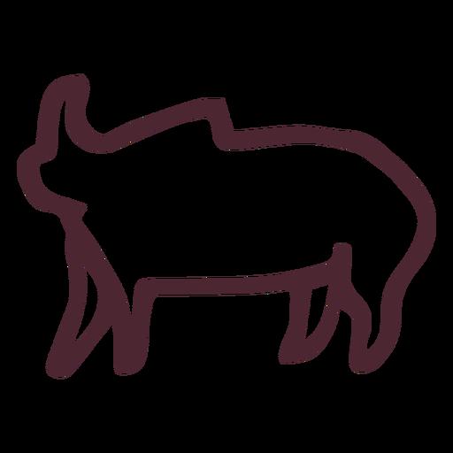 Símbolo de símbolo de elefante tradicional egípcio Transparent PNG