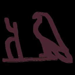 Símbolo de halcón tradicional egipcio
