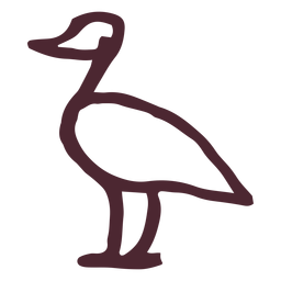 Ägyptisches traditionelles Flamingosymbol