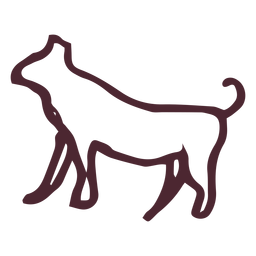 Símbolo de galgo tradicional egipcio