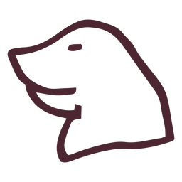Hipopótamo tradicional egipcio cabeza símbolos